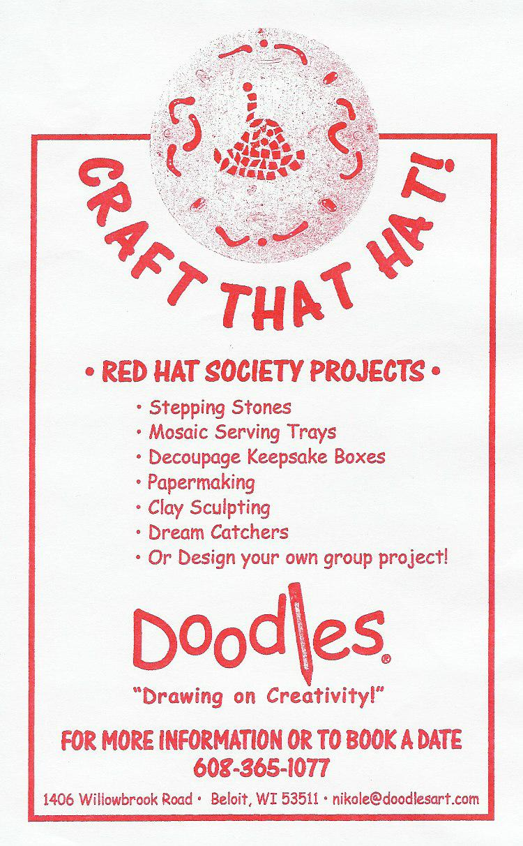 Red Hat Society Doodles